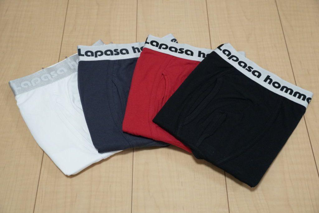 Lapasa(ラパサ)|ボクサーパンツM03のセットは4カラー