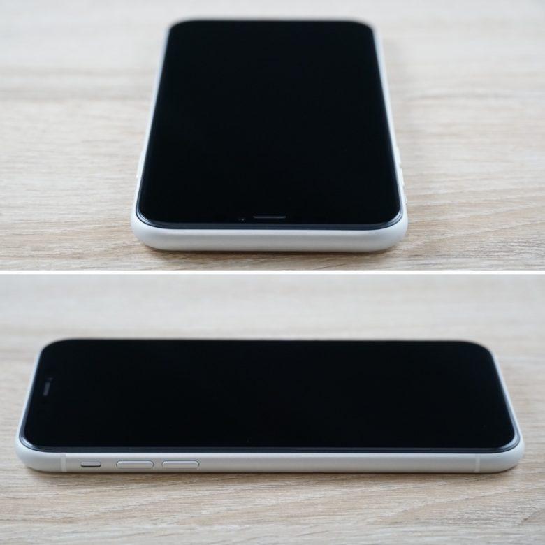 上・左から見たiPhone XRの画像