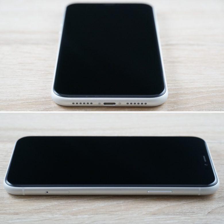 下・右から見たiPhone XRの画像