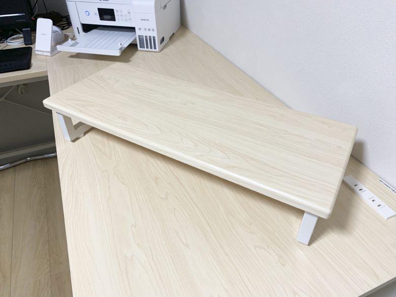 山善(YAMAZEN) サイバーコム コーナーパソコンデスク付属のモニタースタンドは自由に配置可能